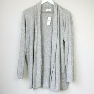 NEW Lou & Grey Anthropologie Open Cardigan Sweater